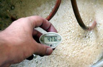Какая температура брожения браги для самогона оптимальная 33