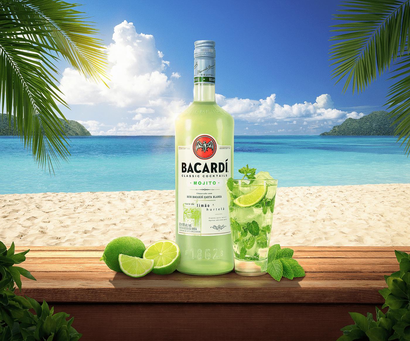Готовый Bacardi Mojito в бутылке