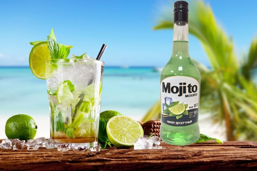 Витебский ликер mojito и стакан